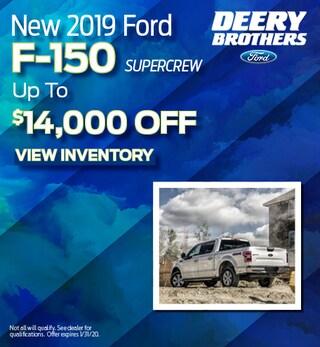 New 2019 Ford F-150 Supercrew