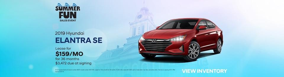 2019 Hyundai Elantra Lease Special