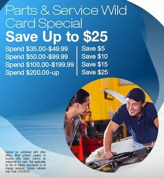 Parts & Service Wild Card Special