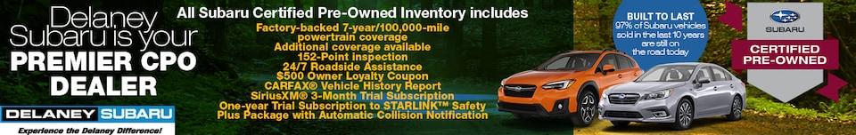 Delaney Subaru is Your Premier CPO Dealer