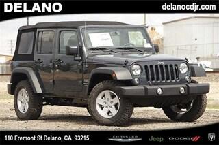 New 2018 Jeep Wrangler Unlimited WRANGLER JK UNLIMITED SPORT S 4X4 Sport Utility in Delano CA