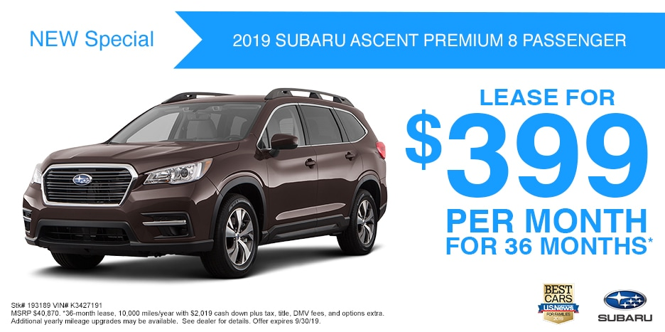 New 2019 Subaru Ascent Premium 8 Passenger