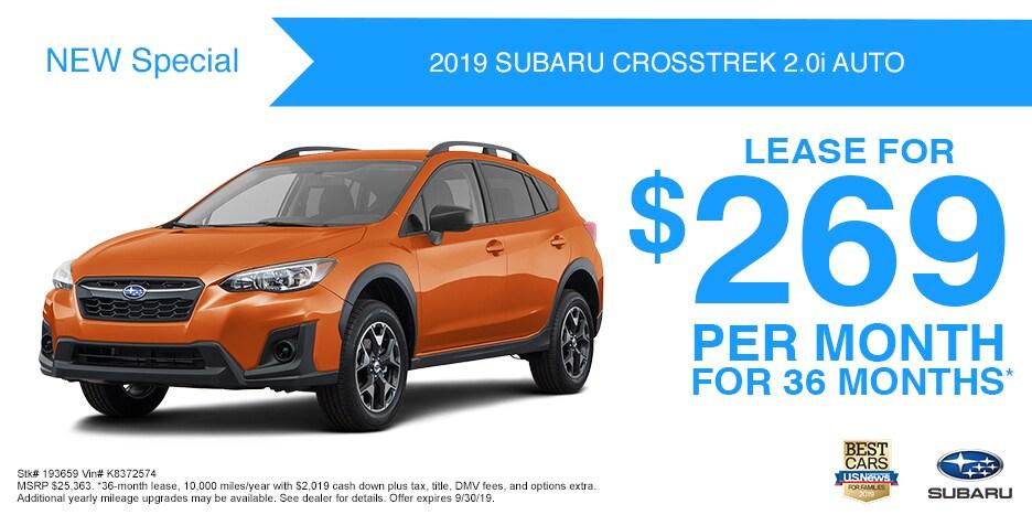 New 2019 Subaru Crosstrek 2.0i Auto