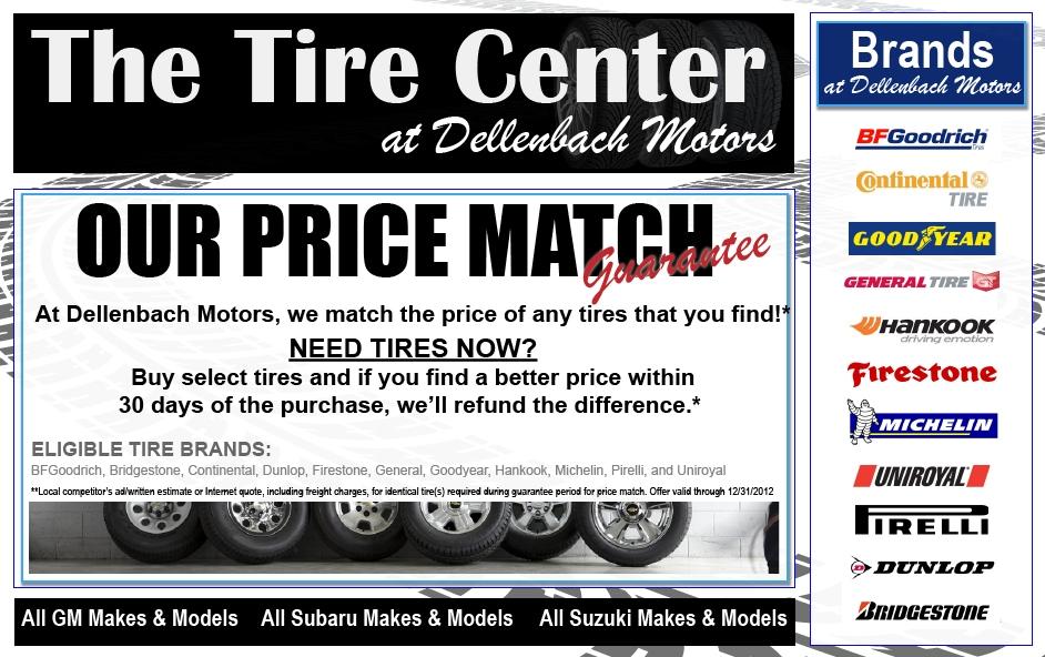 Tire Center Subaru Chevrolet Cadillac Tires For Sale At Dellenbach