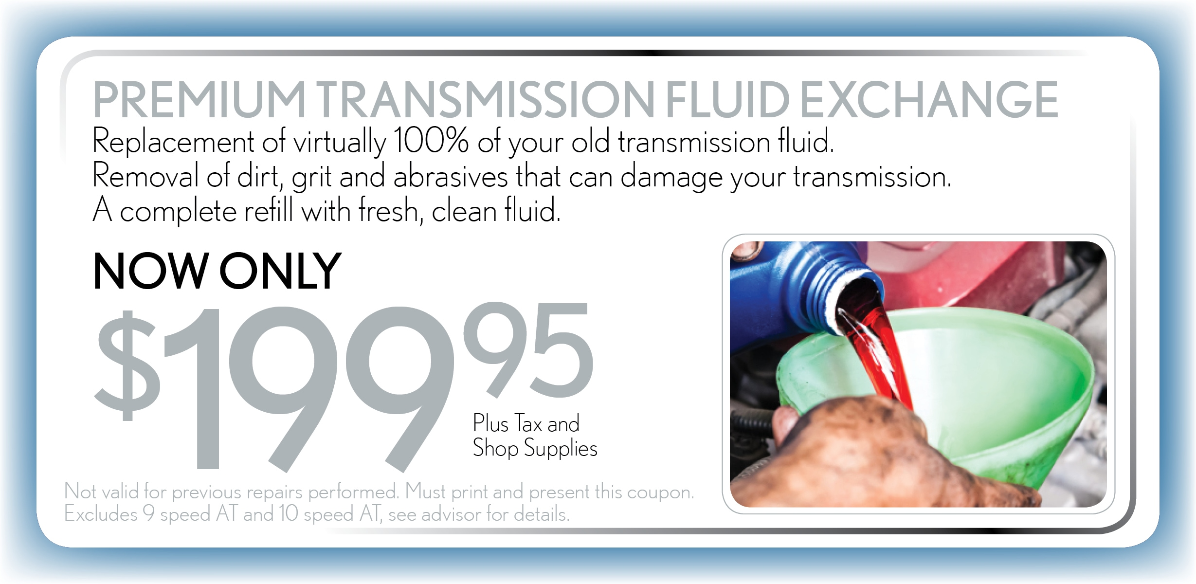 Transmission Fluid Exchange, Delray Beach, FL Automotive Service Special Special