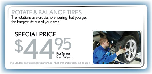 Rotate & Balance Tires, Delray Beach, FL Automotive Service Special Special