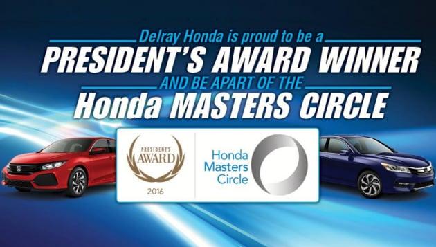 Delray Honda President's Award & Masters Circle