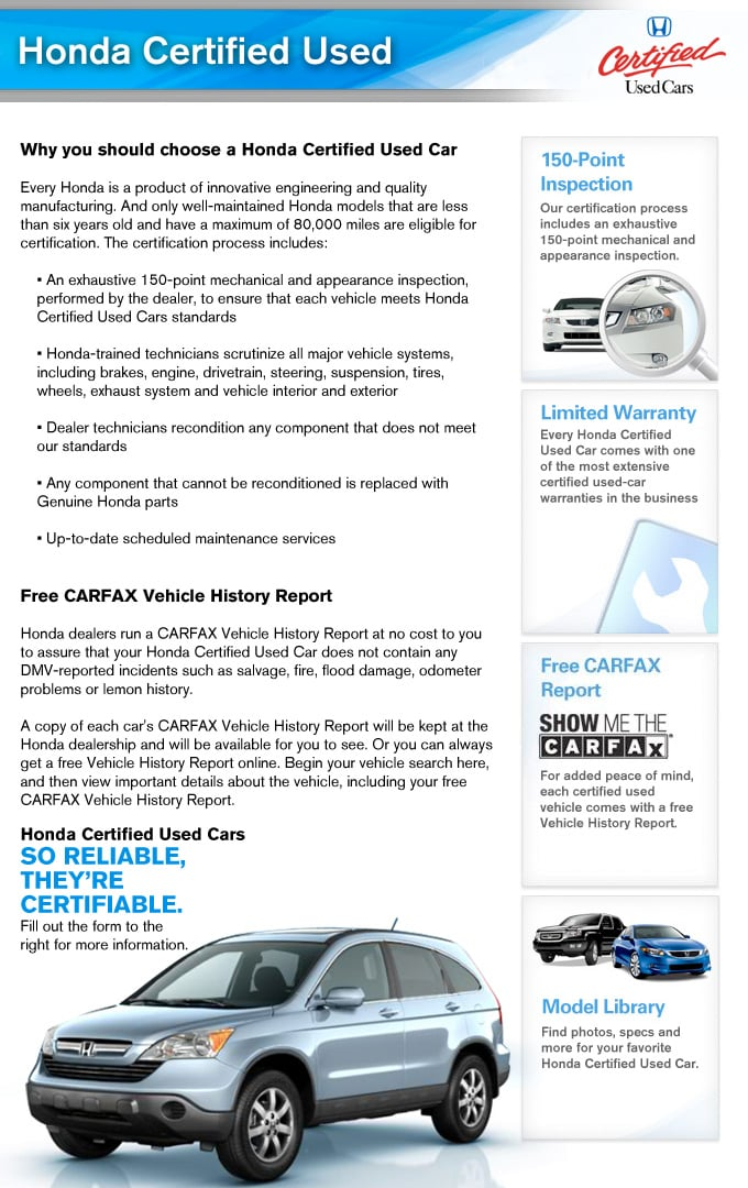 Free Vehicle History Report Online >> Certified Used Honda Cars For Sale Free Carfax Delray Beach Fl