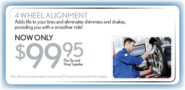 4 Wheel Alignment, Delray Beach, FL Automotive Service Special Special