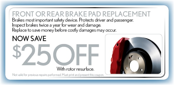 Brake Pad Replacement, Delray Beach, FL Automotive Service Special Special