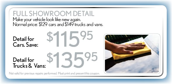 Full Showroom Detail, Delray Beach, FL Automotive Service Special Special