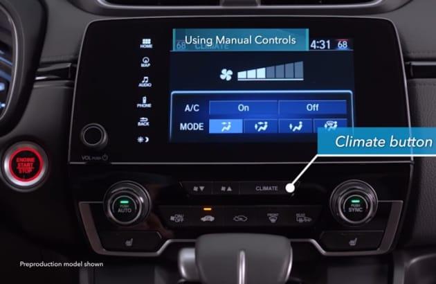 CR-V Climate button