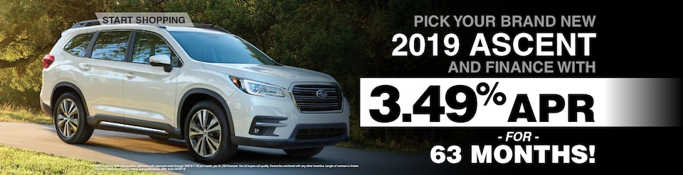 2019 Subaru Ascent Featured Financing