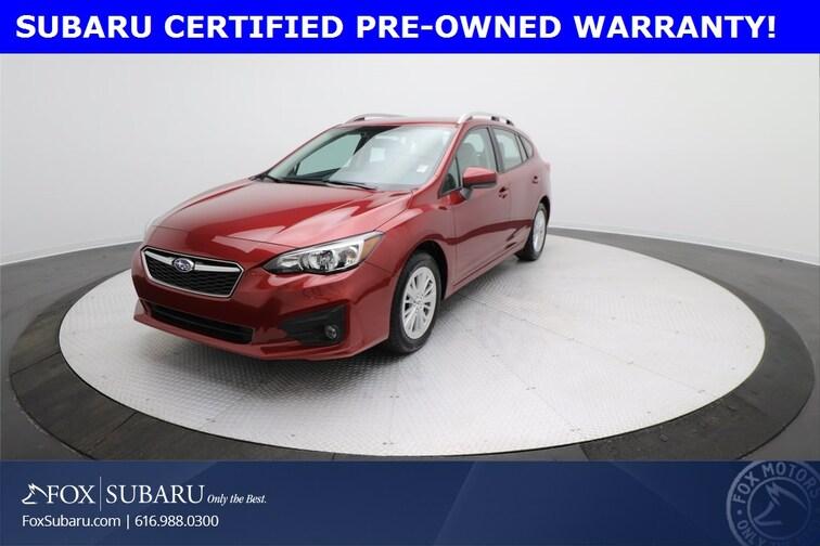certified  2018 Subaru Impreza 2.0i Premium Hatchback Grand Rapids MI