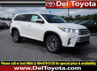 New 2019 Toyota Highlander XLE V6 SUV 190146 for sale in Thorndale, PA