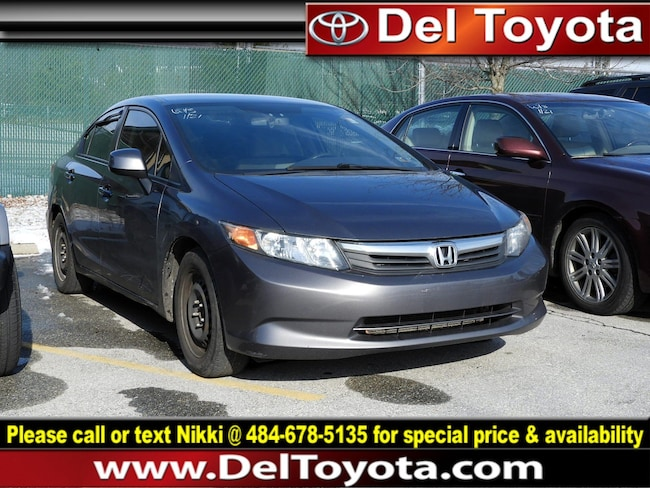 Used 2012 Honda Civic LX Sedan 190828A for sale in Thorndale