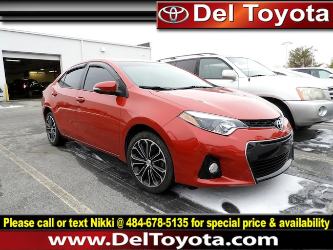 Used 2016 Toyota Corolla S Sedan 190502A for sale in Thorndale