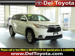 Used 2015 Toyota Highlander LE SUV 190309Z for sale in Thorndale, PA