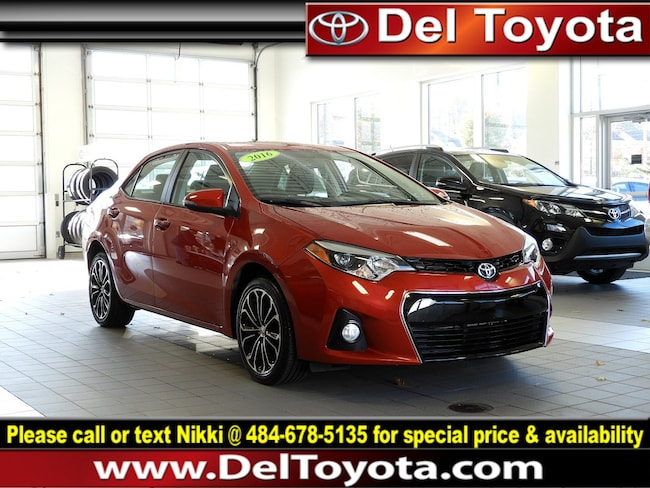 Used 2016 Toyota Corolla S Premium For Sale In Thorndale Pa Near