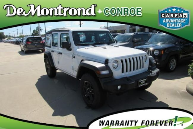 New 2018 Jeep Wrangler UNLIMITED SPORT 4X4 Sport Utility For Sale Conroe, Texas
