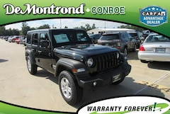 New 2018 Jeep Wrangler UNLIMITED SPORT S 4X4 Sport Utility 1C4HJXDN3JW197789 for sale in Conroe TX near Houston