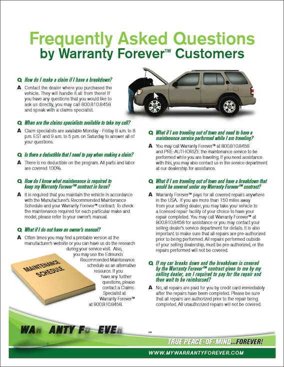 Demontrond Auto Country's Warranty Forever | Lean More About