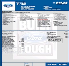 2019 Ford F-150 LARIAT 3.5L ECOBOOST, NAV, BLIND SPOT INFO, MAX TR TOW , FX4 PKG Truck SuperCrew Cab