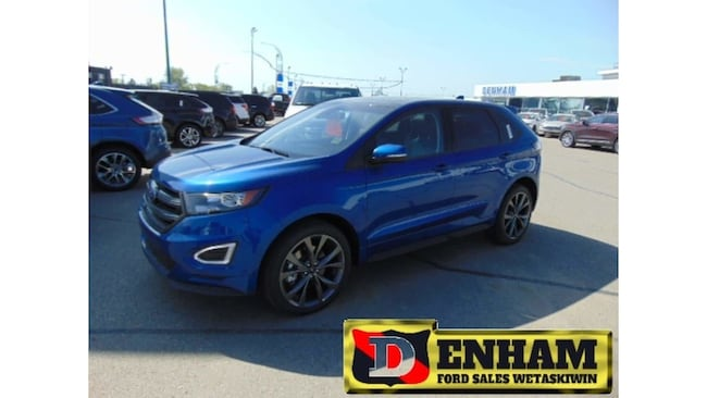 New 2018 Ford Edge SPORT 2.7L ENGINE, NAV, M/ROOF, B/TOOTH, ADAPT CRU SUV in Wetaskiwin