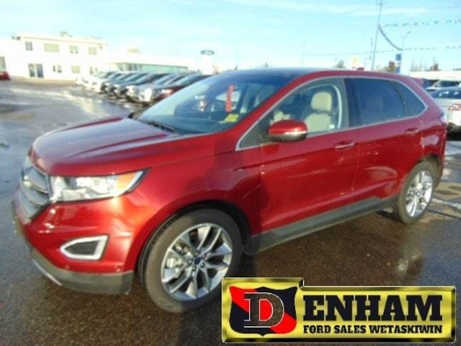 Pre-Owned 2017 Ford Edge TITANIUM 3.5L TIVCT ENGINE, NAV, M/ROOF, LEATHER, SUV in Wetaskiwin