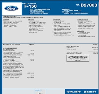 2012 Ford F-150 FX4 5.0L M/ROOF, HEAT COOLED FRONT SEATS, FX LUXURY PACKAGE Truck SuperCrew Cab