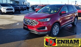 New 2019 Ford Edge TITANIUM 2.0L ECOBOOST, NAV, MOONROOF, ENHANCED PARK ASSIST, ADAPTIVE CRUISE SUV 2FMPK4K92KBB64570 in Wetaskiwin, AB