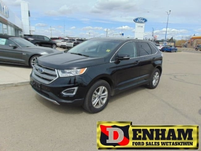 Pre-Owned 2017 Ford Edge SEL 3.5L, M/ROOF, NAV, B/TOOTH LEATHER TRIM SUV in Wetaskiwin