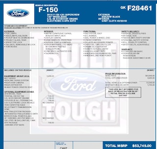 2016 Ford F-150 XLT 3.5L ECOBOOST, POWER DRIVERS SEAT, XTR PACKAGE, MAX TRAILER TOW PACKAGE Truck SuperCrew Cab