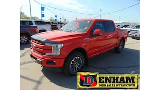 New 2018 Ford F-150 LARIAT 5.0L BLUETOOTH, TR. TOW PACKAGE, LEATHER Truck SuperCrew Cab 1FTEW1E58JFB75898 in Wetaskiwin, AB