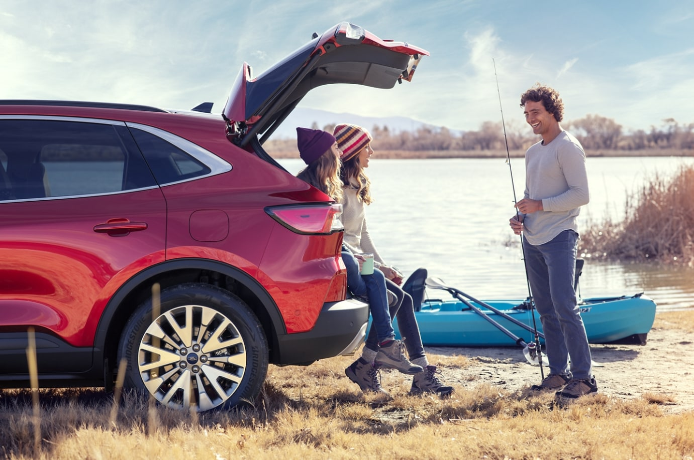 2020 Ford Escape With People On A Fishing Trip