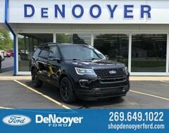 New 2019 Ford Explorer Sport SUV 1FM5K8GT5KGB27640 KGB27640 in Vicksburg, MI