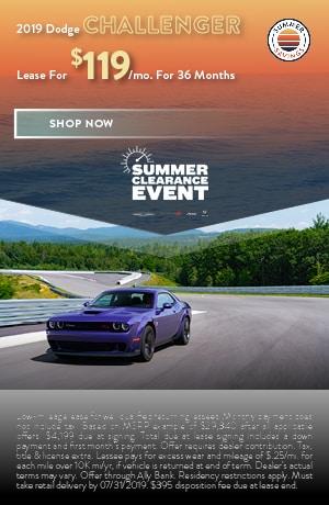2019 Dodge Challenger - July Offer