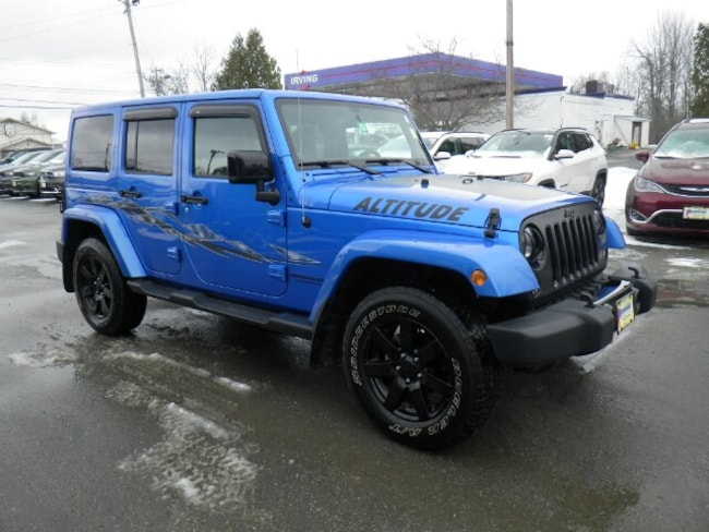 Used 2014 Jeep Wrangler Unlimited Sahara SUV Derby, VT