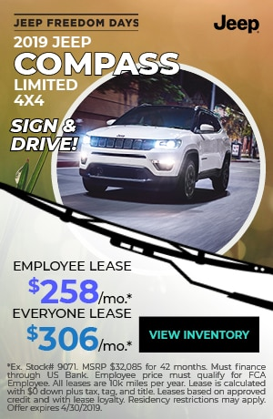 April 2019 Jeep Compass Lease Special