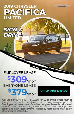April 2019 Chrysler Pacifica Lease Special