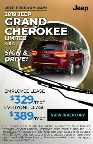 April 2019 Jeep Grand Cherokee Lease Special