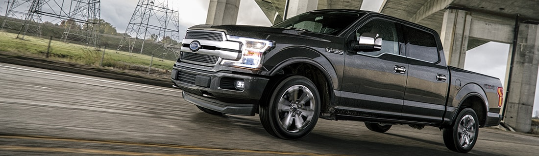 New Ford F-150 on the road