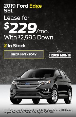 June 2019 Ford Edge SEL