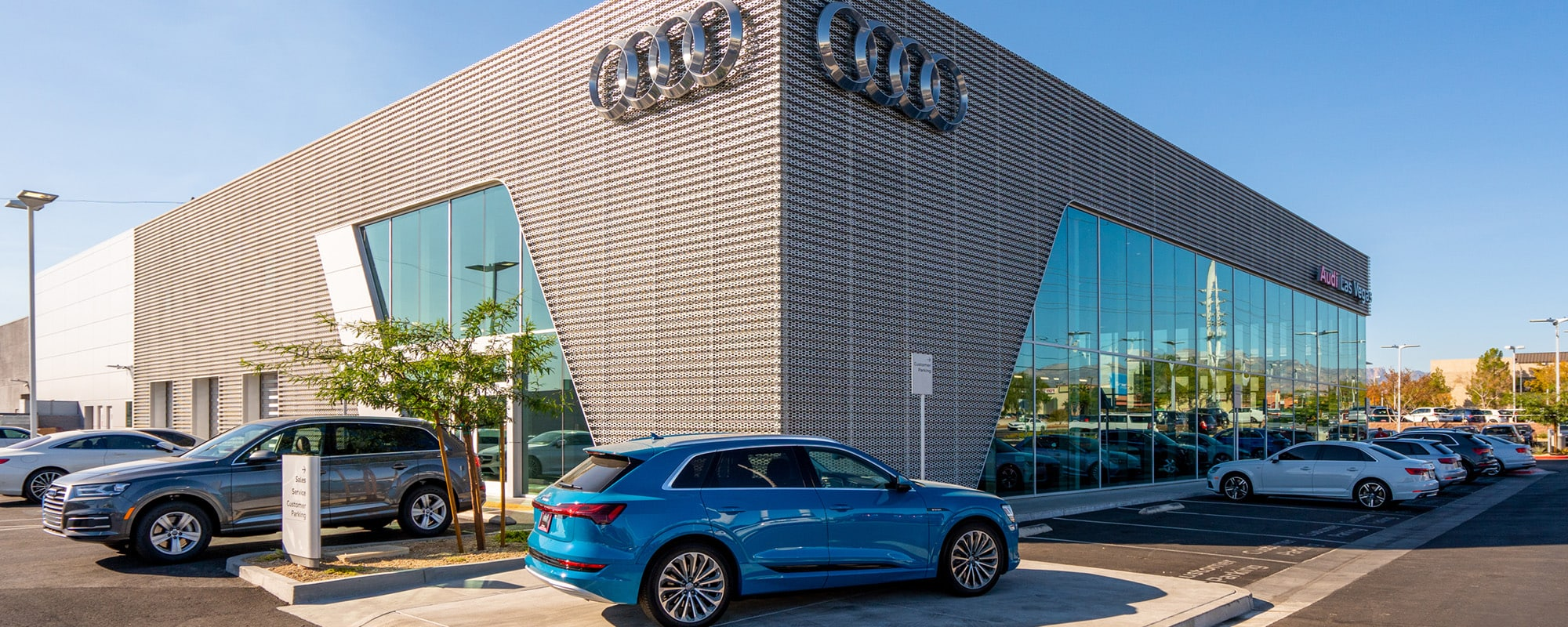 Outside view of Audi Las Vegas