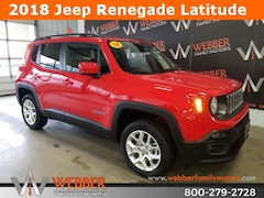 New Chrysler Dodge Jeep Ram models 2018 Jeep Renegade LATITUDE 4X4 Sport Utility ZACCJBBB4JPJ52246 for sale in Detroit Lakes, MN