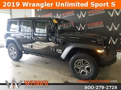New Chrysler Dodge Jeep Ram models 2019 Jeep Wrangler UNLIMITED SPORT S 4X4 Sport Utility 1C4HJXDG5KW568180 for sale in Detroit Lakes, MN