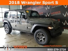 New Chrysler Dodge Jeep Ram models 2018 Jeep Wrangler UNLIMITED SPORT S 4X4 Sport Utility 1C4HJXDG2JW296248 for sale in Detroit Lakes, MN