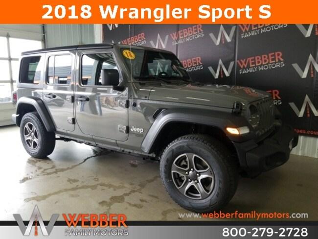 New 2018 Jeep Wrangler UNLIMITED SPORT S 4X4 Sport Utility Near Fargo