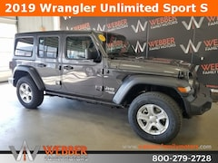 New Chrysler Dodge Jeep Ram models 2019 Jeep Wrangler UNLIMITED SPORT S 4X4 Sport Utility 1C4HJXDG1KW598745 for sale in Detroit Lakes, MN