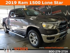New Chrysler Dodge Jeep Ram models 2019 Ram 1500 BIG HORN / LONE STAR CREW CAB 4X4 5'7 BOX Crew Cab 1C6SRFFT3KN607204 for sale in Detroit Lakes, MN